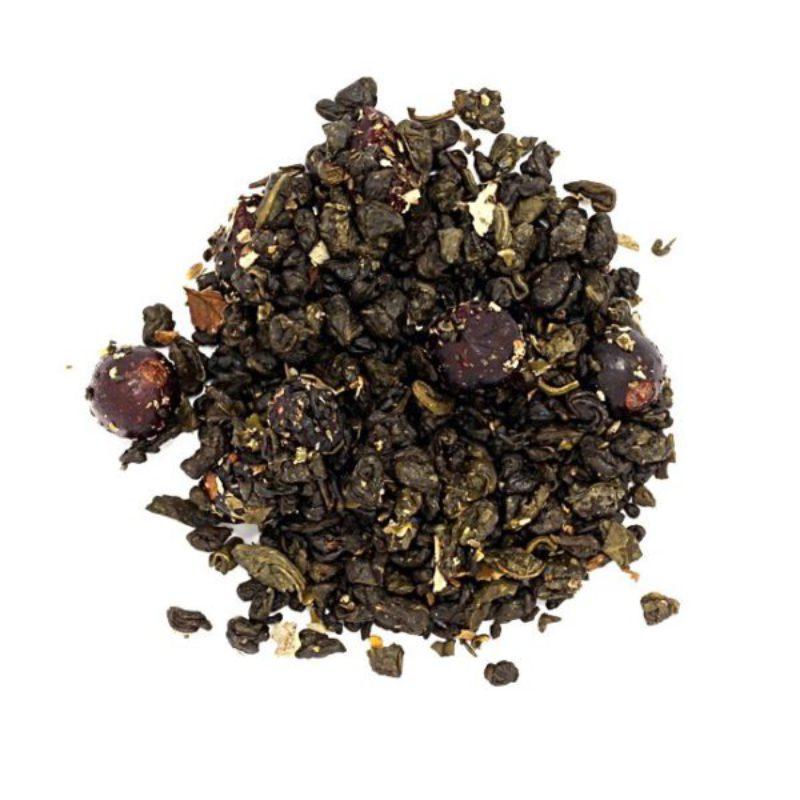 herbata zielona wiśnia porzeczka