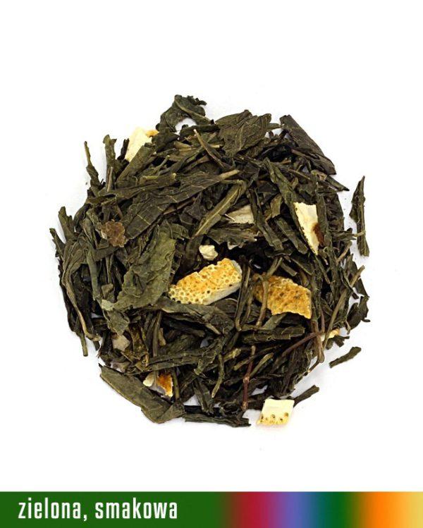 herbata zielona hiszpańska mandarynka
