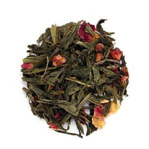 Herbata Sencha róża malina