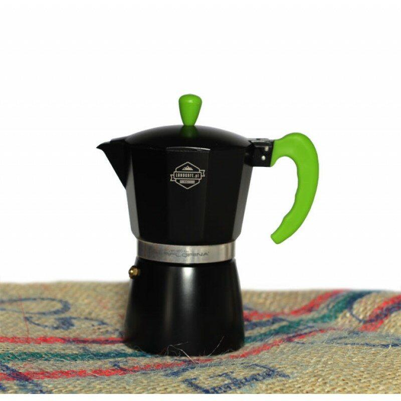 Kawiarka Florina Coretto - czarno-zielona